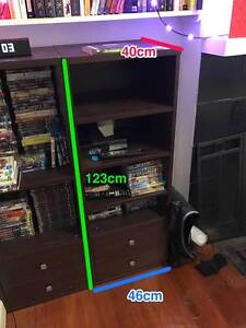 TWO black wooden shelving units with drawers Leichhardt Leichhardt Area Preview