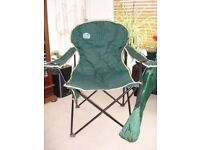 2x Delux Large Camping chairs in carrier bags, used once. Very comfortable, easy to open & close
