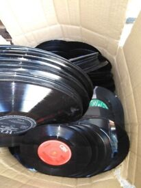 Free, lots of records suitable for vinyl art only