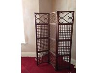 WOOD/CANE ROOM DIVIDER OR SCREEN