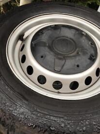 Transit custom original wheels and tyres