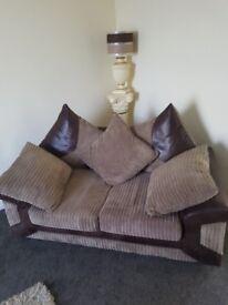 Corner sofa plus matching 2 seater sofa