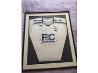 Signed Birmingham City shirt in a frame