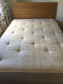 Double divan inc mattress