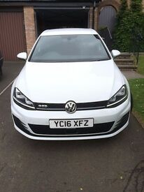 VW Golf GTD, 2016, White 14,000 miles, 1 owner, DSG, Nav, 19 inch Santiago alloys, adaptive cruise