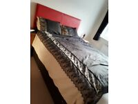 King size bed and headboard