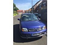 Nissan Micra for sale! 104,000 miles, 62 plate, blue