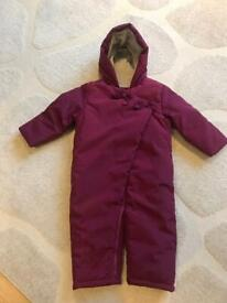 Baby's snowsuit new but no tags from M&S age 12-18 mths