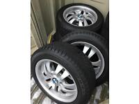 """4 x 16"""" BMW Alloys with RF Winter Tyres (Dunlop)"""