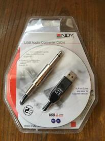Lindy USB audio converter cable interface