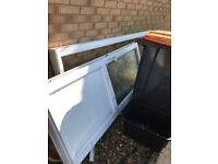 Free used white external door with frame