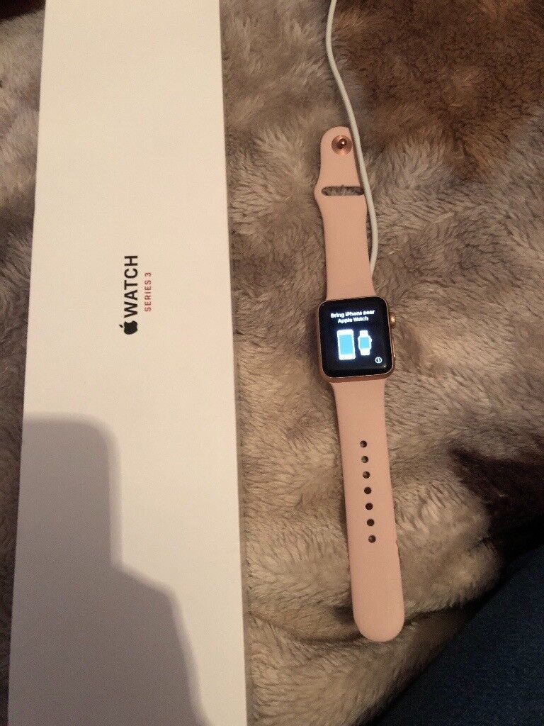 apple watch 3 rose gold