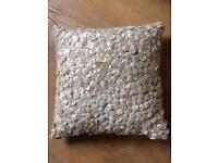 Pearl button decorative cushion