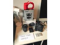 Canon 700d Digital Camera & Canon 10-22mm Lens, Plus extras