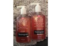 2 Neutrogena Oil-free Acne wash