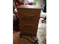 Excellent condition sturdy heavy wooden 3 drawers of Chest