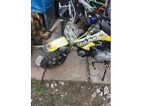 Pitbike thump with yx 140 engine