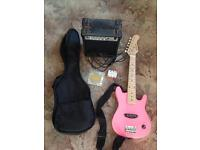 Childs electric guitar and amp