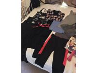 Size M selection of ladies workout gear