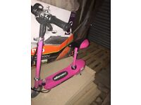 Elscoot Pink Electric Scooter Kids