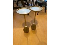 Brass Side Tables (Pair) from West Elm