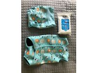 Baby Splash About swimsuit set - used once. Bottoms 1-2 years, top 12-18months
