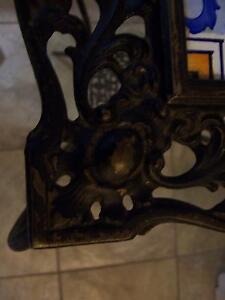 Antique iron table with ceramic tile top Kingston Kingston Area image 3