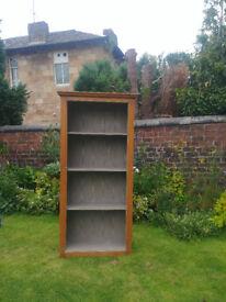 Solid, vintage, free-standing bookcase/shelves