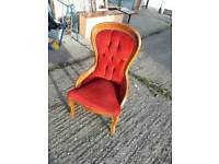 Spoon back bedroom chair