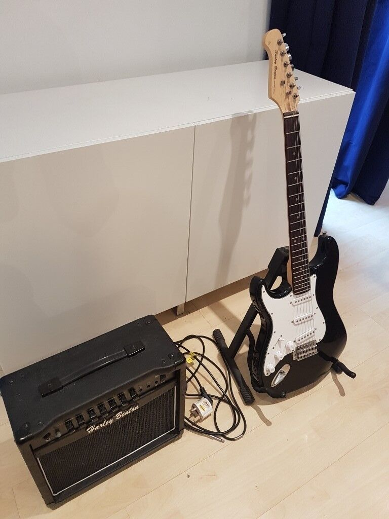 a4b838e7 Harley Benton electric guitar & amplifier & stand for sale. Excellent  condition!
