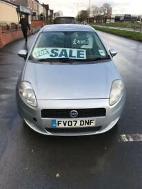 FIAT PUNTO NEW SHAPE 2007 1.4 MOT CHEAP £695