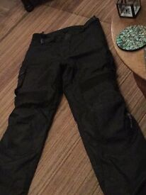 Merlin textile motorcycle trousers size large