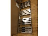 Chrome Designer Flat Panel Heated Towel Rail 1600 x 600 ! BRAND NEW !