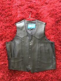 Ladies leather waistcote
