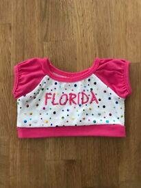 Build a Bear Workshop BABW Pink Florida T-shirt in excellent condition