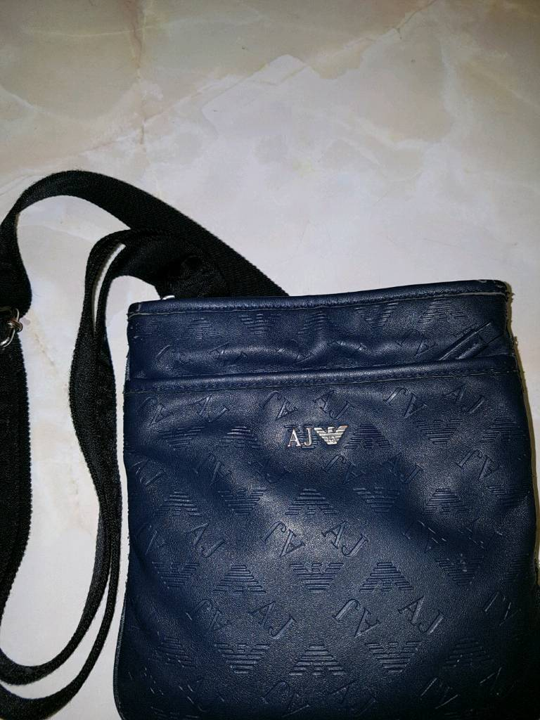 b58a92e81e Mens Armani jeans Pouch Messenger Bag