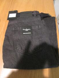 Piere Cardin Black Jeans 34S BNWT