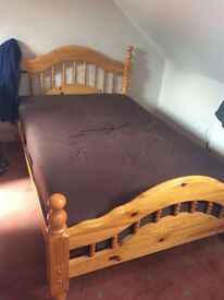 3/4 bed and mattress