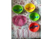 Munchkin Heat Sensor Baby Bowls and Tommee Tippee Plate Good Used Condition! Perfect for weaning :)