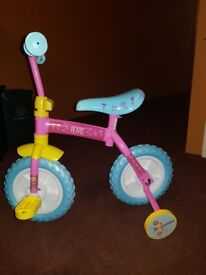 Brand New Never been Used Peppa Pig 2 in 1 Training Bike
