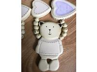 Pair of Nursery Teddy Bear curtain ties-Excellent condition