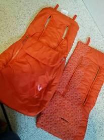 Maclaren mark ii 2 footmuff and seat liner orange