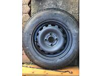 Vauxhall wheel and new tyre