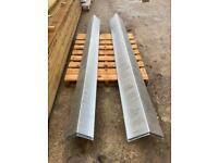 METAL ROOF RIDGES / FLASHING / CAPPINGS - 2.4M - NEW