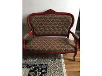 LOVELY ORNATE SOFA WARM RED TONES . BRAND NEW