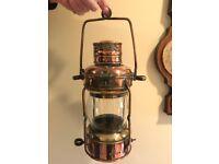 Vintage Ships Copper Anchor Light