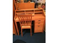 John lewis - Loft Desk complete with matching filing cabinet and sitting chair rrp £427