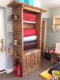 Beautiful handmade wooden display unit.Ex giftshop fitting. Suitable for shop, florist or craftroom