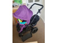 Obaby Tandem Double/Single Pushchair With Extras!