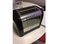 Dualit 2 Slot Lite Toaster in Black Gloss Finish